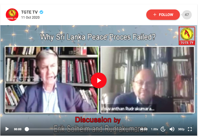 Why Sri Lanka Peace Process Failed? Discussion by Erik Solheim and Rudrakumaran
